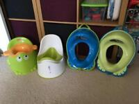 Potty and toddler toilet seats