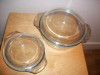 pyrex pans x2 used once