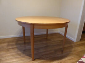 Beech effect extendable dining room table (no chairs)