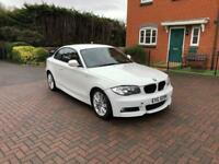 BMW 1 SERIES 2010 118d M SPORT COUPE WHITE 2.0 DIESEL