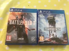 Battlefield 1 And Battlefront PS4