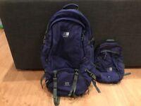 Karrimor unisex backpacker rucksack global SA super cool 50-70 litres with day rucksack