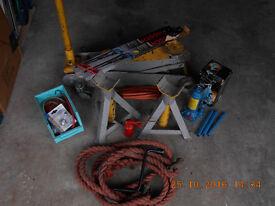 Heavy duty trolly jack and garage equipment