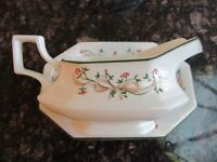 ETERNAL BEAU GRAVY BOAT AND SAUCER