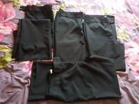 4 pairs. Bundle size 12 black trousers. School, formal, work.