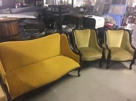 Vintage chair and sofa set