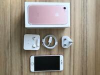 iPhone 7 128g Rose gold on EE