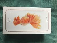 Brand new iphone6s rose gold un opened in the box
