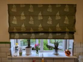 Next Green Fern Roman Blind As New 48 inches wide