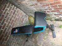 Workout Bench £30+weights