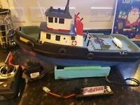 Model remote control boat