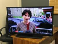 "Toshiba 40"" Led Full Hd 1080p tv with Freeview Hdmi usb excellent condition"