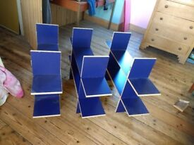 """Three IKEA"""" Knots and crosses"""" type shelves - hang separately or stack"""