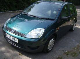 2003 (03) Ford Fiesta LX 1.3 petrol, 5 Door, 1 years MOT