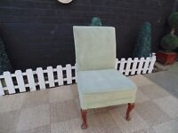 BEAUTIFUL GREEN VELVET LADIES BEDROOM CHAIR VERY COMFORTABLE CHAIR AND IN VERY GOOD CONDITION