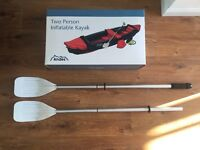 Two Person Inflatable Kayak - Blue - In Excellent condition