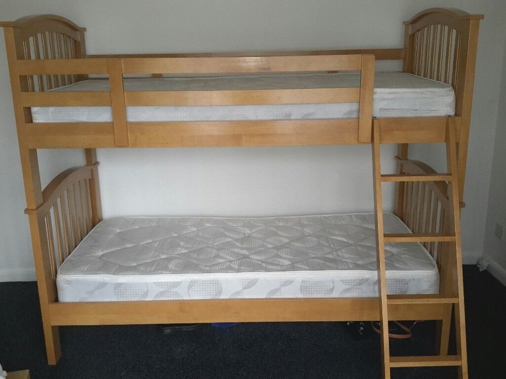Joesph International Maple Solid Wood Bunk Beds Can Be Used As 2