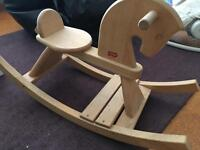 Wooden rocking horse by Gerino