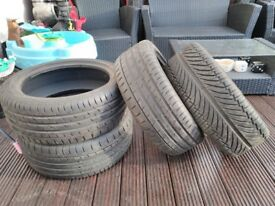 4 x 215 x 45 x 17 Tyres (Continental Contact 3 & Admiral)