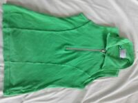 Green Sleeveless Top (Small - Medium)