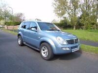 2004 Ssangyong Rexton 2.7SE. Manual gearbox. Blue