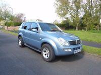 2004 Ssangyong Rexton 2.7SE. Manual gearbox. Blue