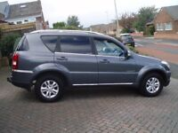 SSANGYONG REXTON RX220 exdi 4 X 4 CAR DERIVED VAN. NO VAT