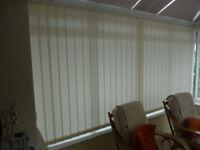 Vertical Blind, 357cm wide x 178cm drop, 13cm louvres, White