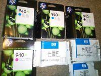 9X HP 940XL INK CARTRIDGES