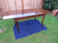 Queen Anne cabriole mahogany wooden extendable dining table