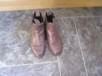 brown leather jodphur boots size 4