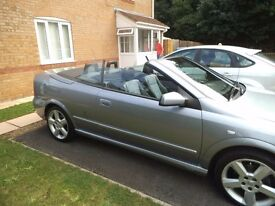 2005 VAUXHALL ASTRA BERTONE EXCLUSIVE SILVER CONVERTIBLE
