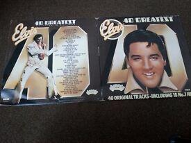 Elvis Presley's 40 Greatest hits compilation. (Double album)