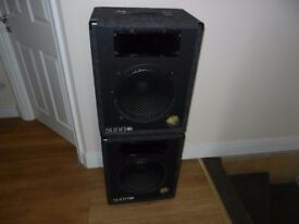 PA SPEAKERS PAIR 100 WATT, 8 Ohms MODEL SUNN 1212 (FENDER)