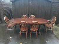 Oak Dining Table & Chairs ( Can Deliver )