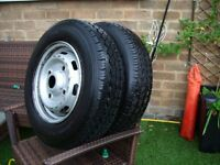 Two commercial tyres