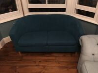 Small Teal Sofa, Great For Small Spaces.