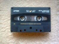 Vintage TDK Metal (Type IV) 60 Minute cassette
