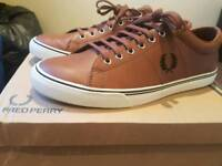Fred Perry Tan Leather Shoes