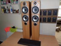 Pair of Monitor Audio Bronze BR5 Floor Standing Speakers