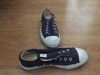 Blue converse all star chuck taylor slips (laceless) U.K. 5.5