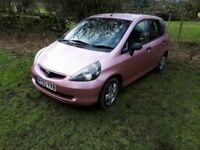 PINK Honda Jazz. 2003. Good condition. MOT September