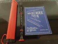 Recorder, Case & Book