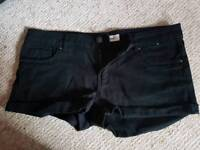 Women's Denim Co Black Shorts Size UK 10