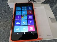 Nokia/ microsooft lumia 640 XL Orange (Unlocked) SIM FREE Smartphone