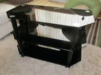 Black Glass TV Stand Very Nice Mint Condition £10.00