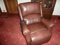 Leather electric reclining chair (Celebrity Motion furniture)
