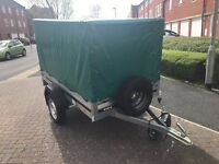 BRENDERUP 1205s THULE with green 83cm High Canvas Cover and spare wheel