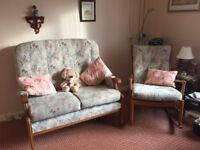 Cottage Suite comprising of a two seater settee and o matching rocking chair