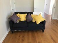 Grey Stud Sofa